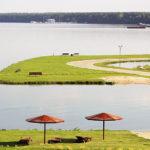 Пироговское водохранилище берег
