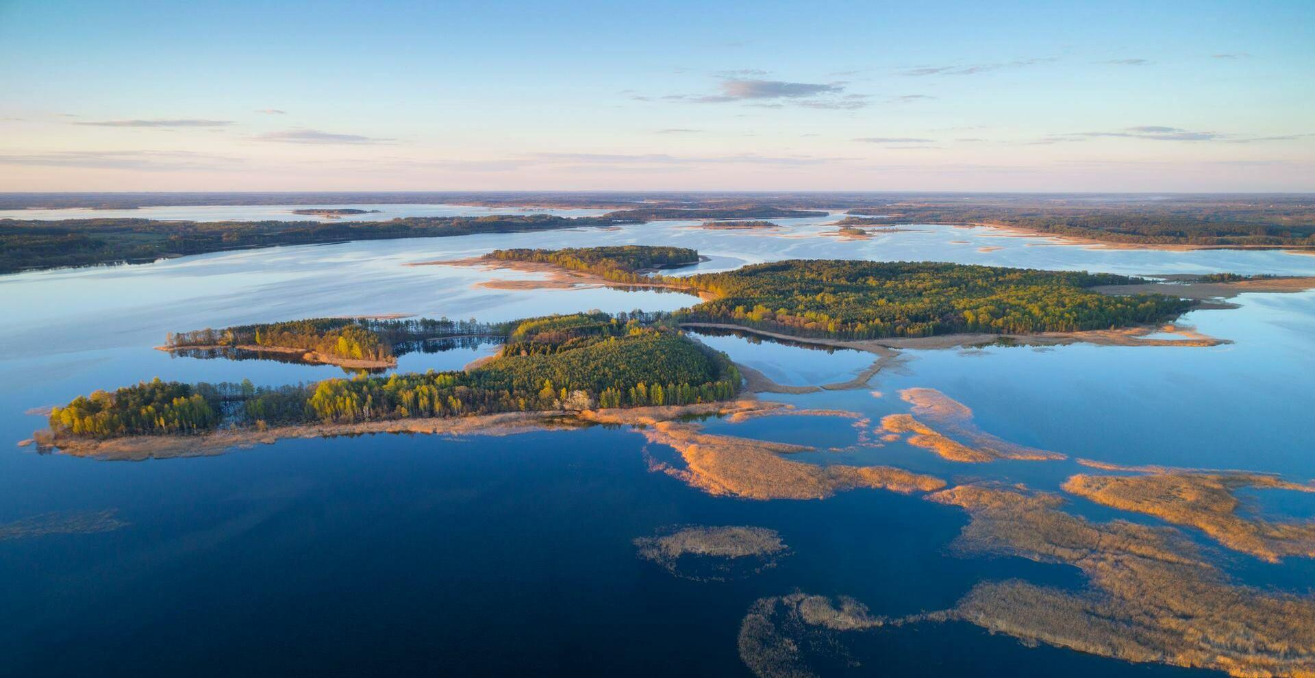 Браславские озера вид с воздуха