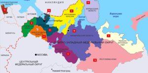 Северо-Западный федеральный округ схема