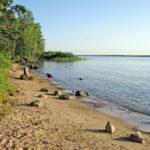 Пляж на Рыбинском море