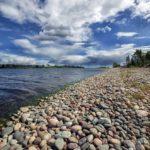пляж Ладожского озера