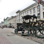 Фото памятника карете Екатерины II в Казани