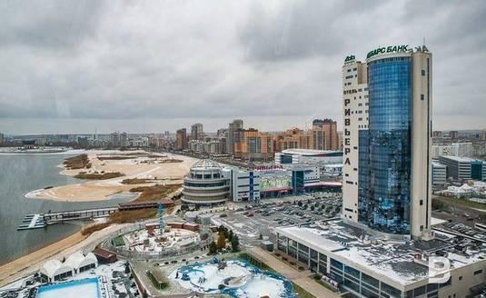 Вид на развлекательный комплекс «Казанская Ривьера»