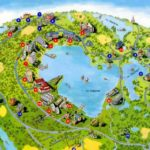 Карта санаториев на озере Нарочь